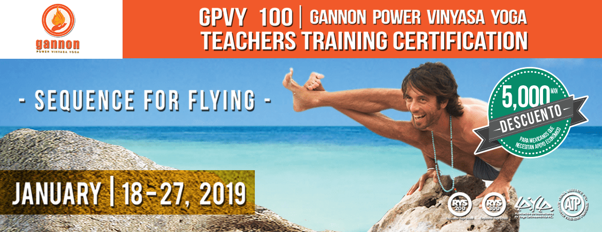 Gannon Power Vinyasa Yoga Teacher Training GPVY 100 – Flying  Sequence 2019